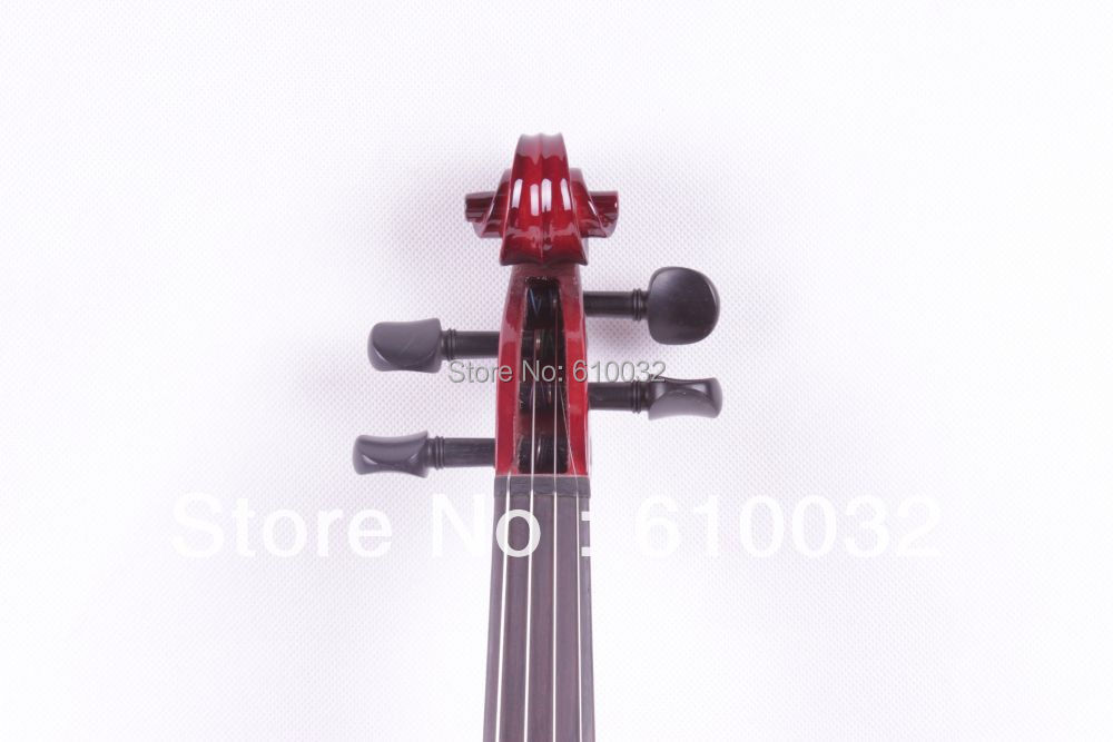 4/4 New 4   string Electric Acoustic Violin Solid Wood Nice Sound  red  color new 4 string 4 4 electric acoustic violin patent silent fine sound 1