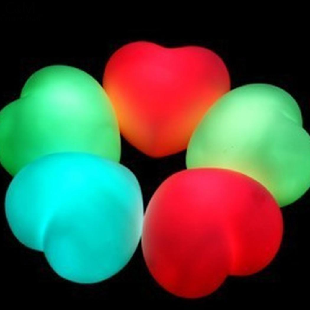 Led Mini Lovely Heart Night Lights Colorful Battery Powered Bedroom Baby Pillow Toy Desk Night Lamps Gift Light