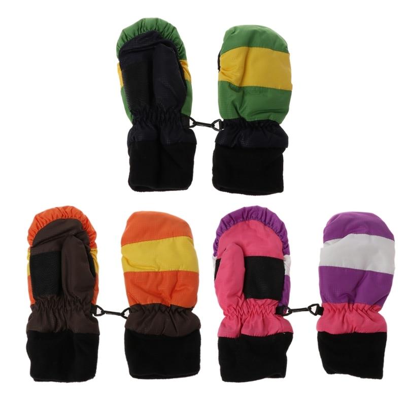 100% Quality Thickening Baby Mittens Warm Winter Baby Boys Girls Children Snowboard Gloves Warm Space Cotton