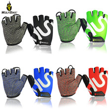 Inner Shockproof SBR Pad Mens Cycling Gloves Half Finger Breathable Ultralight Motorbike Scooter Bicycle MTB Bike Sports