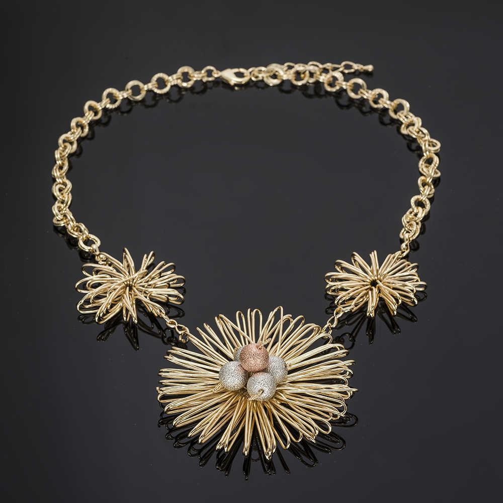 Conjuntos de joyas africanas BAUS de color dorado de Dubái, grandes conjuntos de joyería de Nigeria, venta al por mayor de cuentas nupciales, conjunto de joyas para boda, disfraz para mujer