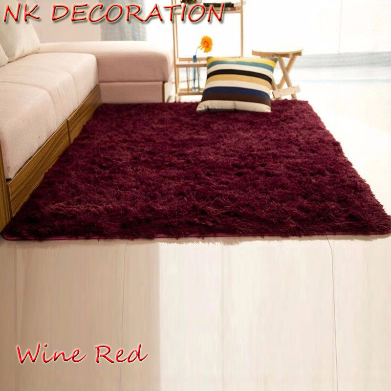 Nk decoration 120cm 160cm wine red carpet bedroom soft - Average cost to carpet a bedroom ...