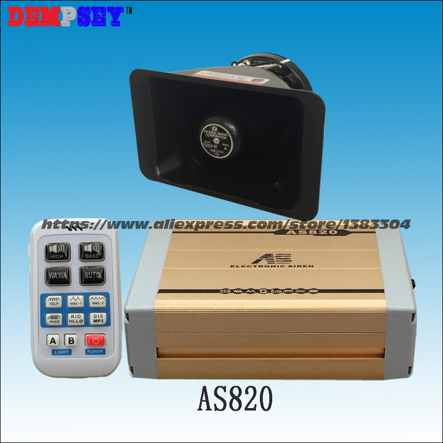 FS AS820 Wireless 200W siren with MP3 playback function Propaganda broadcasts inserted U disk with 200W speaker,DC12V