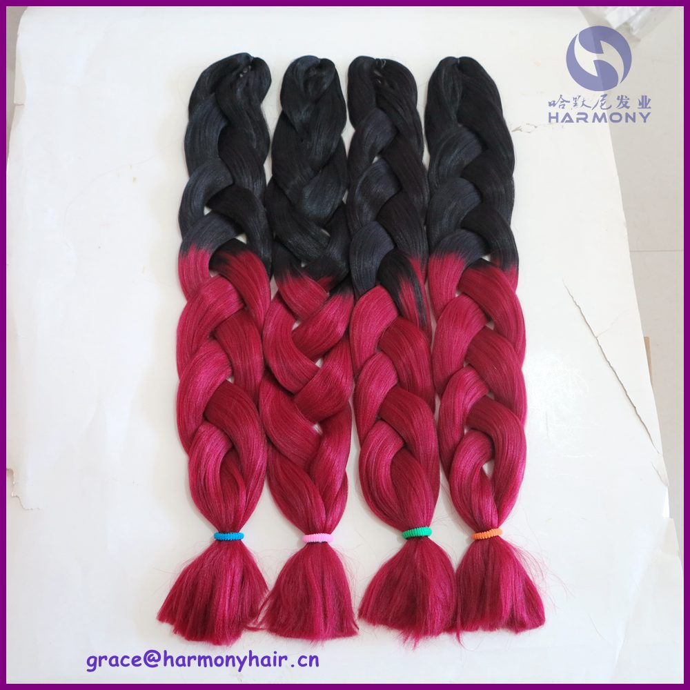 Us 580 Free Shipping 10packs 32 165g Ombre Braiding Hair 2 Tone Blackd Red Ombre Color For Small Twist Braids And Box Braids On Aliexpresscom