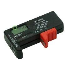 جهاز اختبار بطارية رقمي محمول BT 168D BT168 LED أسود AA بطارية بقوة 1.5 فولت 9 فولت جهاز قياس لقياس الجهد