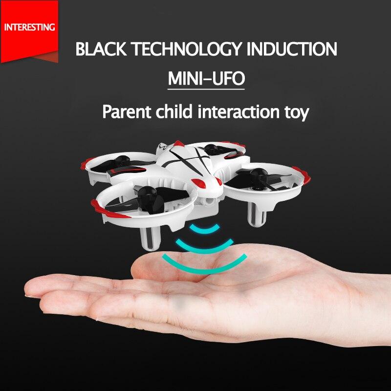 Indutivo Mini-Veículo de Vôo UAV Quatro-Eixo Controlado Remotamente Interativo Queda-Resistente Aircraft Brinquedo das Crianças presente de Aniversário presente