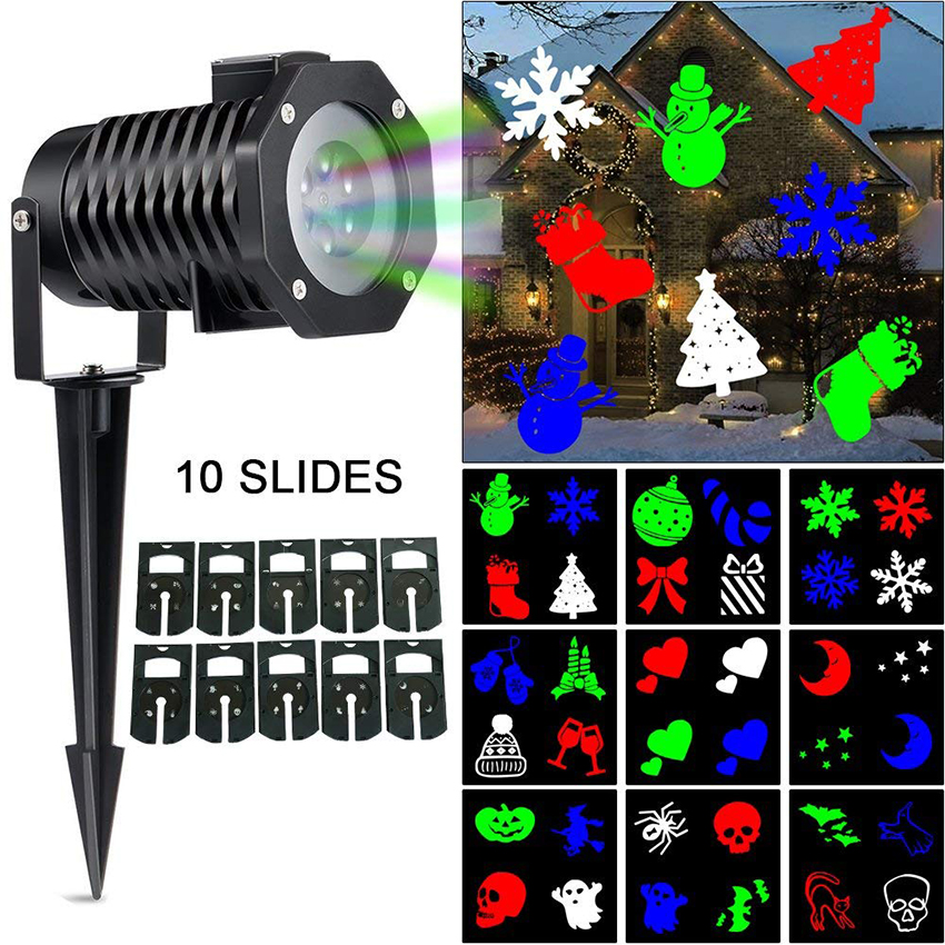 Christmas Decoration Moving Snowflake Laser Projector Light 10 patterns Projector DJ Stage Light Outdoor Landscape Garden LampChristmas Decoration Moving Snowflake Laser Projector Light 10 patterns Projector DJ Stage Light Outdoor Landscape Garden Lamp