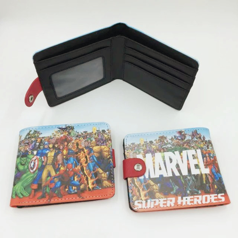 hasp child wallets with marvel super hero character woman man overwatch game purse clutch pokemon go wallets