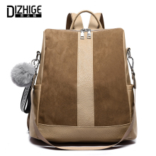 DIZHIGE Brand Large Capacity Oxford Women Backpack High Quality School Bags For Solid Zipper Multifunctional Bag Female