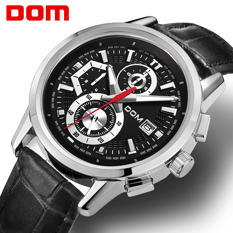 DOM men watch Casual sports watch Top Brand Luxury men buisness wristwatch military army chronograph watch men relogio masculinoDOM men watch Casual sports watch Top Brand Luxury men buisness wristwatch military army chronograph watch men relogio masculino