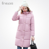 Beieuces 2017 Long Winter Jacket Women Large Fur Hooded Coat Thicken Parkas Outwear Fashion Bread Loose