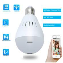 CBAOOO Wireless IP Camera 960P Bulb Light Camera Wifi Home security camera CCTV 360 degree camera Mini Night Vision Baby Monitor(China)