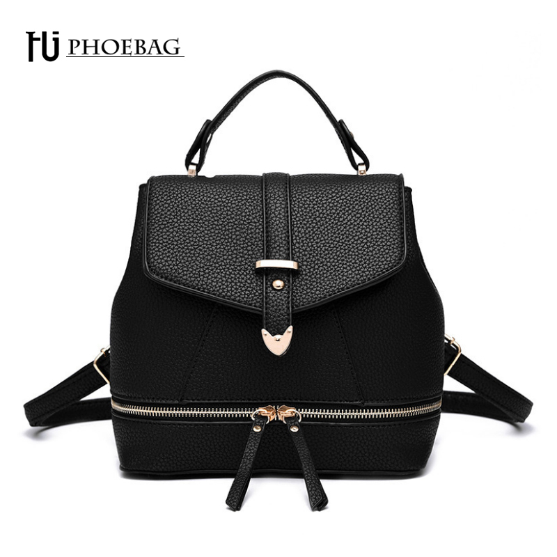 ФОТО HJPHOEBAG Solid Patchwork Women Shoulders bags Fashion Multi-Function Backpacks Mochila Teenager girls School bags Z-K45