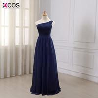 Navy Blue Long Chiffon A Line Pleated Bridesmaid Dress Under 50 Dark Purple Wedding Party Dress