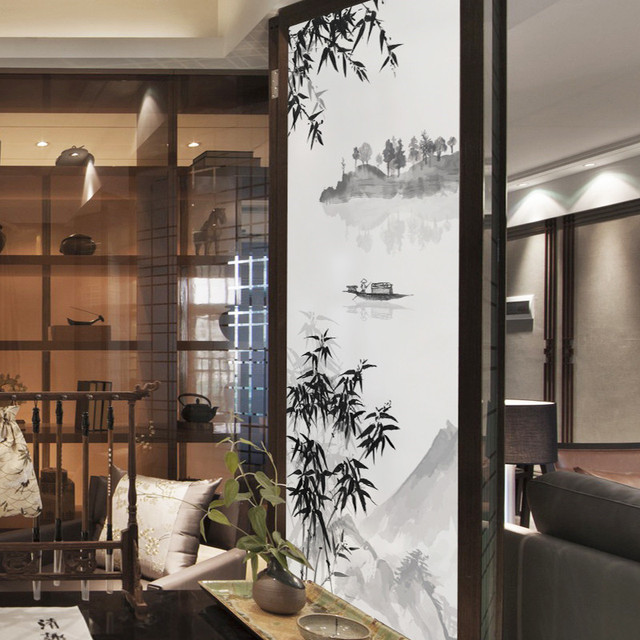 Luxury Support Custom Size Static Self adhesive Window Privacy Frosted Home Decor Glass Stickers Decals Contemporary - Model Of frosted interior door Picture