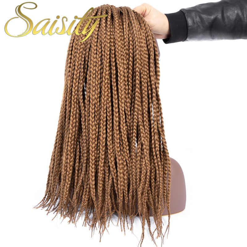 Saisity Ombre fibra sintético trenzado pelo a granel Crochet trenzas Micro caja trenzas Crochet cabello