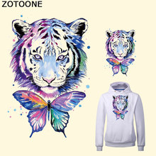 ZOTOONE Watercolor Lion Butterfly Europe Style Patch Iron on T-shirt Dresses A-level Washable Stickers Decoration Heat Appliqued