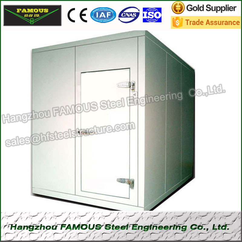 Blast Freezer And Walk In Freezer Panels , Cold Room Chambers And Supermarket Cold Storage For Food Industries