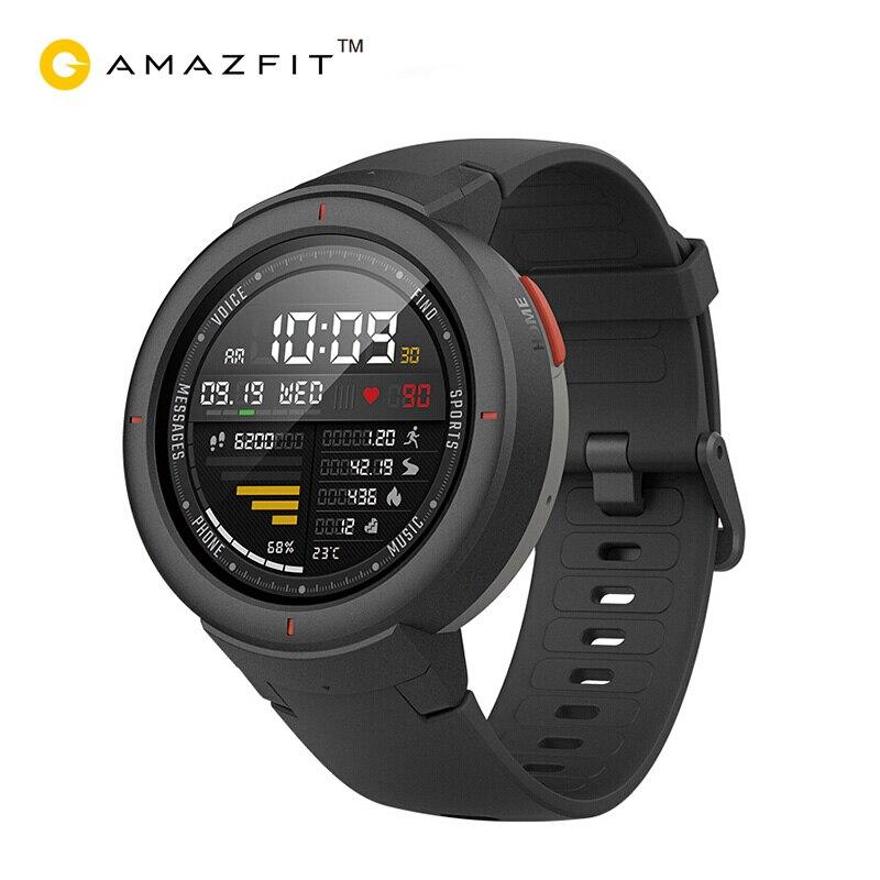 Xiaomi Amazfit Sull'orlo Inglese Versione Smartwatch 1.3 pollici AMOLED Schermo Dial e Rispondere Alle Chiamate Aggiornato HR Sensore GPS Intelligente orologio