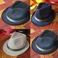 Moda Estilo moda Unissex Dobrar Chapéu de Palha Fedora Sombreiro Verão Mulheres Sandy Beach Sun Cap Vaqueiro Ocidental