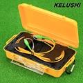 KELUSHI OTDR Dead Zone Eliminator Fiber Optic OTDR Launch Cable Box 1km SM  SIngle Mode 9/125 SC -APC Connectors 1310/1550nm