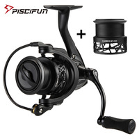 Piscifun Carbon X Spinning Reel With Spare 1000 2000 3000 Shallow 4000 Standard Spool 5.2:1 6.2:1 Gear Ratio 11 BB Fishing Reel