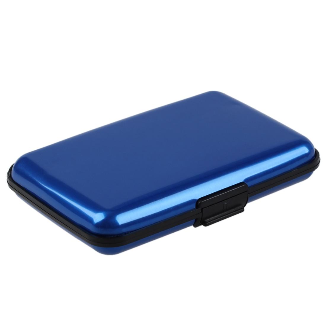 Waterproof Business Id Credit Card Wallet Holder Aluminum Metal Case Box (Random Color)