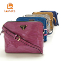 Fashion Shell Shape PU Leather Handbag Women High Quality ShoulderBag Elegant Lady Glossy Clutch Classic Messenger Bag Loshaka