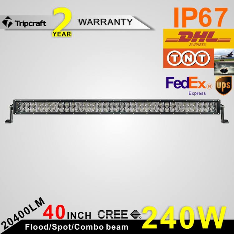 40Inch 240W LED Work Light Bar Spot Flood Combo Fog Light Driving Lights Offroad Lighting for SUV UTE ATV Truck 4x4 Boat car led