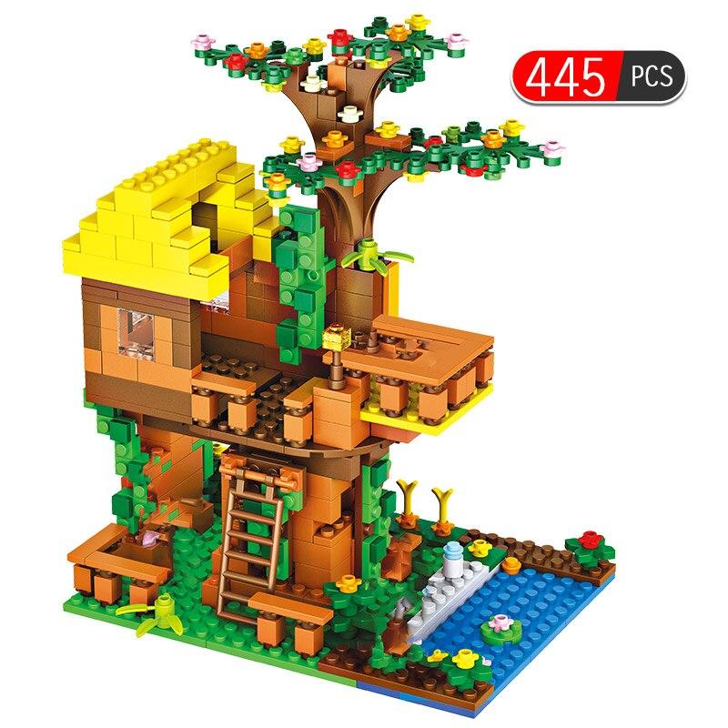 445 Uds Brinquedo ladrillos clásico casa del árbol de la selva legotely bloques de construcción juegos de ladrillos juguetes para niños ¡Anime Tokyo Ghoul 22CM Kaneki Ken despertado Ver! Figura de acción de PVC modelo coleccionable regalo de Navidad de juguete de Brinquedos