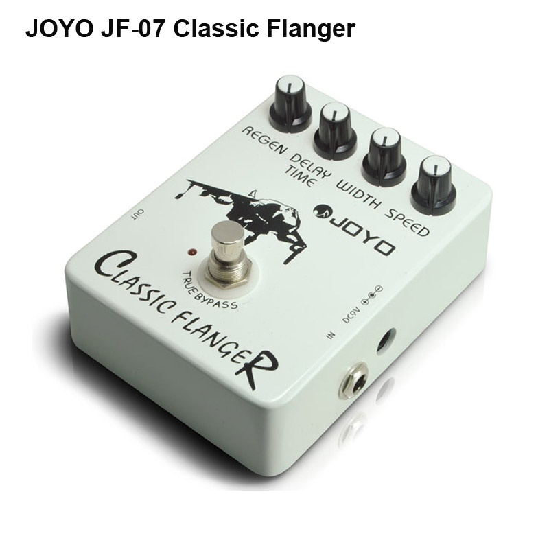 ФОТО JOYO JF-07 Classic Flanger Guitar Effects Pedal with Speed Regain Width Delay Time Knob Paradise City True Bypass Free Shipping