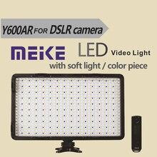 Meike MK Y600AR 600 lamps remote control LED Video Light for DV Camcorder Canon Nikon Sony Panasonic Olympus Digital SLR Cameras