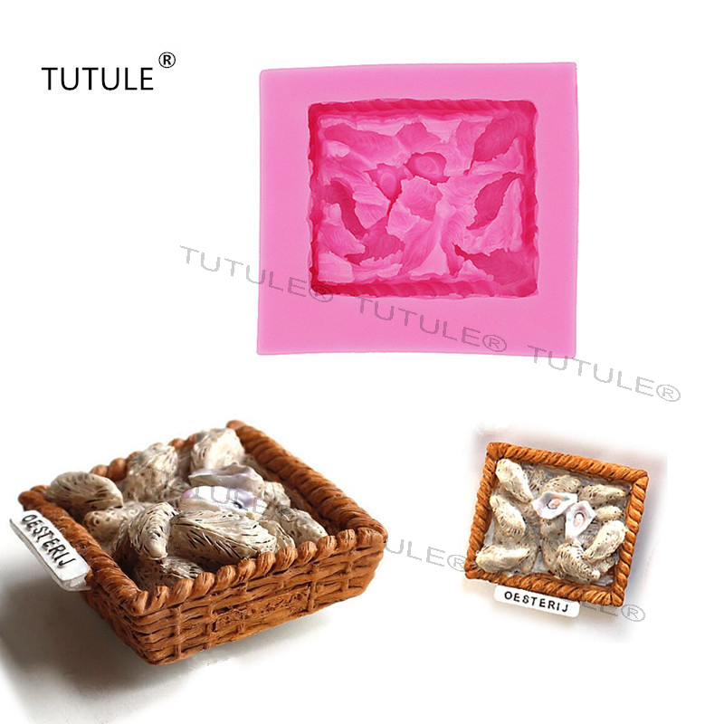 4bd9c0831e00c1 Gadgets Oysters Silicone Molds Chocolate Candy DIY Cake Decorations Polymer  Clay Craft Seafood Mold