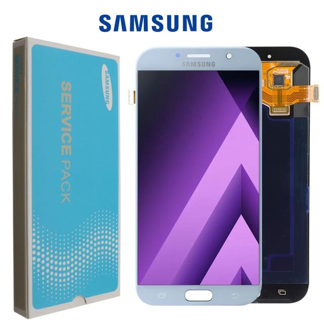 ЖК дисплей Super Amoled 5,7 для Samsung Galaxy A7 2017 A720 A720F, дисплей с сенсорным экраном и дигитайзером в сборе, ЖК дисплей для Galaxy A7 2017 Duos