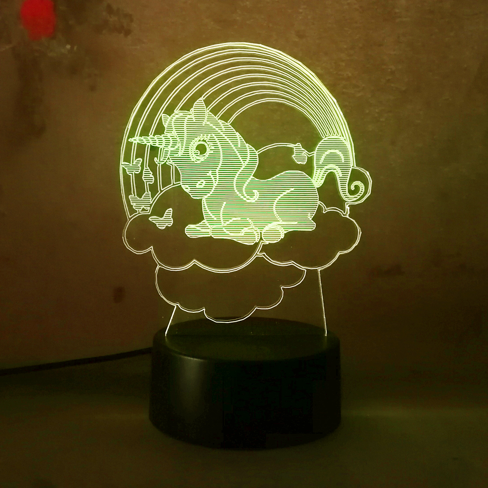 Led Night Lights Useful Kids Bedroom Led Home Decor Cartoon Figure Desk Lamp 7 Color Changing Shape 3d Night Light Remote Control Children Comfortable And Easy To Wear Led Lamps