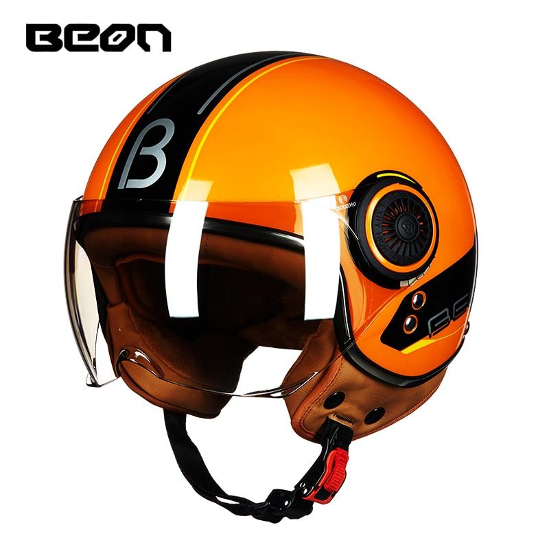 Free shipping BEON B110B open face 3 4 motorcycle Motorbike Casco Capacete helmet Jet Vintage Retro