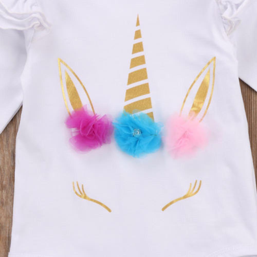 HTB1pbpDdlcHL1JjSZFBq6yiGXXav - Newborn Infant Baby Girls Long Sleeve Unicorn Printing Floral Bodysuit for Summer Clothes Outfits Pink/White Jumpsuit