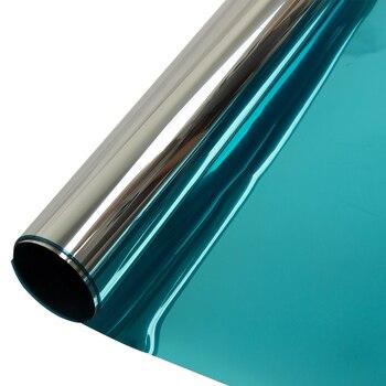 Sunice Blue&Silver Window Film One Way Mirror reflective Solar Tint Privacy Protective glass film Sun Control home decor