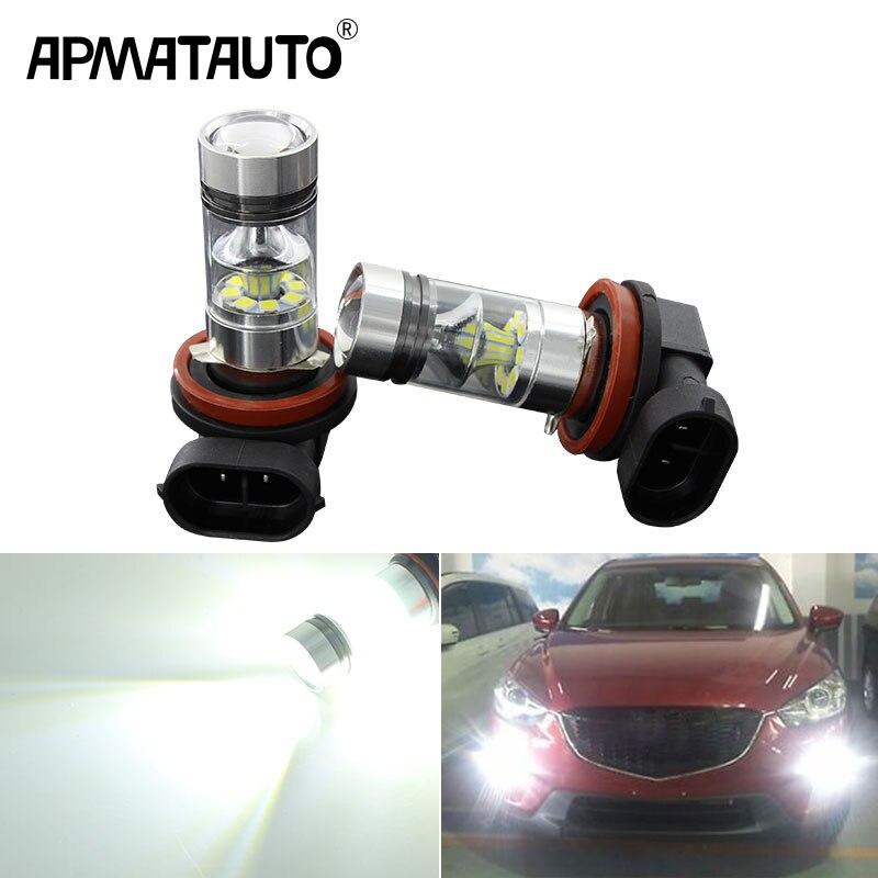 H11 Xenon WHITE 27 LED SMD CAN BUS ERROR FREE Car Fog Bulbs C