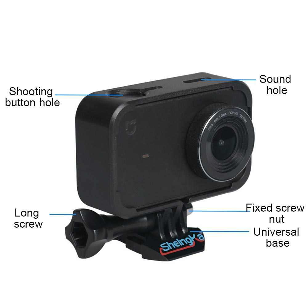 Funda protectora para montaje en marco lateral de Gosear con Base de tornillo larga para acción Xiaomi Xiao mi jia 4K accesorios de la cámara