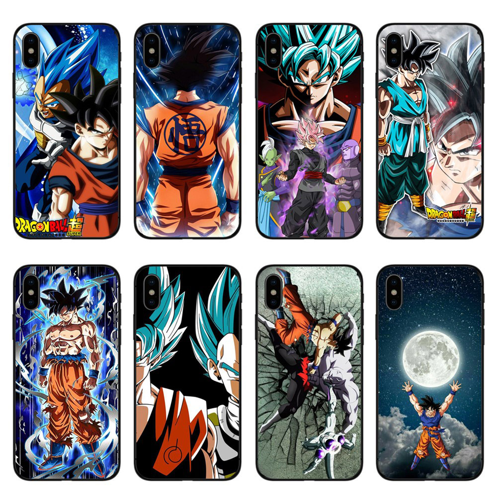 Phone Cases Dragon Ball DragonBall z Soft TPU For iPhone X 10 goku Cover for 5S SE 6 6S 7 8Plus Black silicone Case