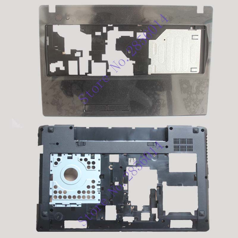 NEW FOR LENOVO G580 G585  Laptop Palmrest cover/Bottom Case Base Cover With HDMI 604SH01012 AP0N2000100 new bottom base box for dell inspiron 15 5000 5564 5565 5567 base cn t7j6n t7j6n