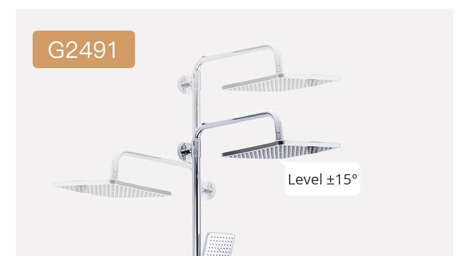 HTB1pbpqaUY1gK0jSZFCq6AwqXXaB GAPPO thermostatic shower set rain shower set shower faucet hot and cold Shower faucet Bathtub thermostatic shower mixer