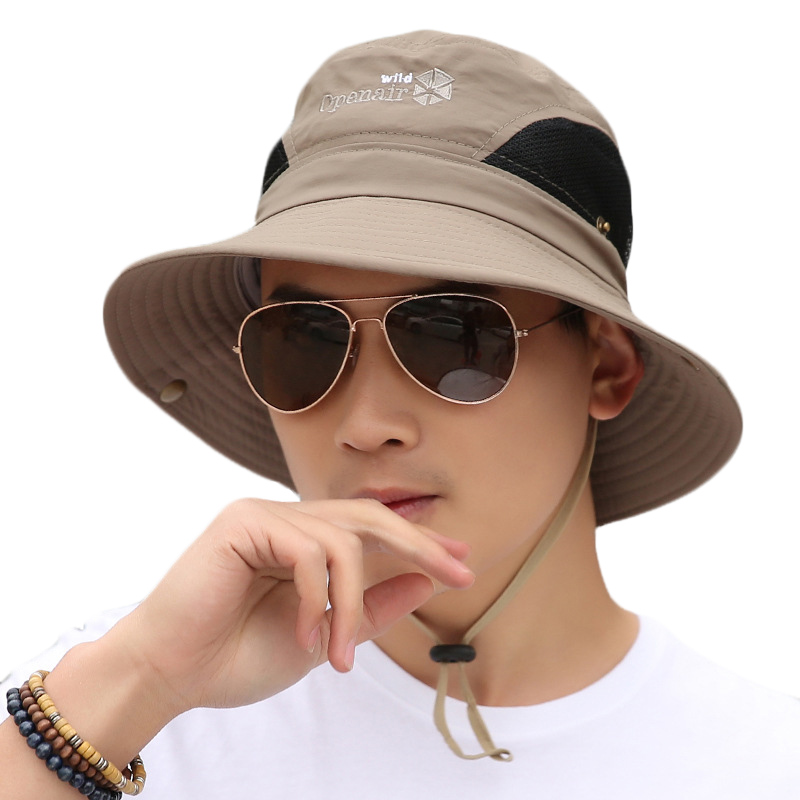 0956d4bc3ef BINGYUANHAOXUAN Outdoor Sun Hat UV Protection Hat Fishing Cap Bucket Hats  Unisex Sunhat For Beach