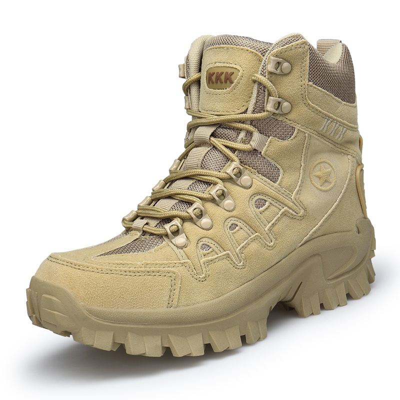 Big Size 39-46 Desert Tactical Shoes Mens Boots Wear-resisting Army Boots Men Waterproof Outdoor Hiking Men Combat Ankle Boots