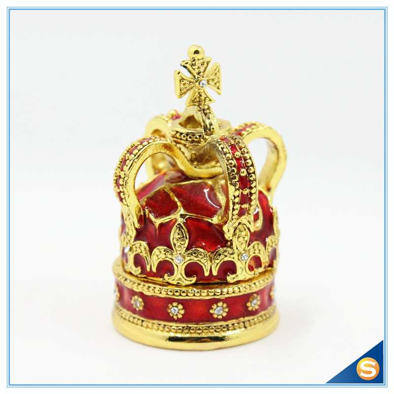 Free Shipping Cross Crown Trinket Box Ring Jewelry Box Ring - Home Decor - Photo 3