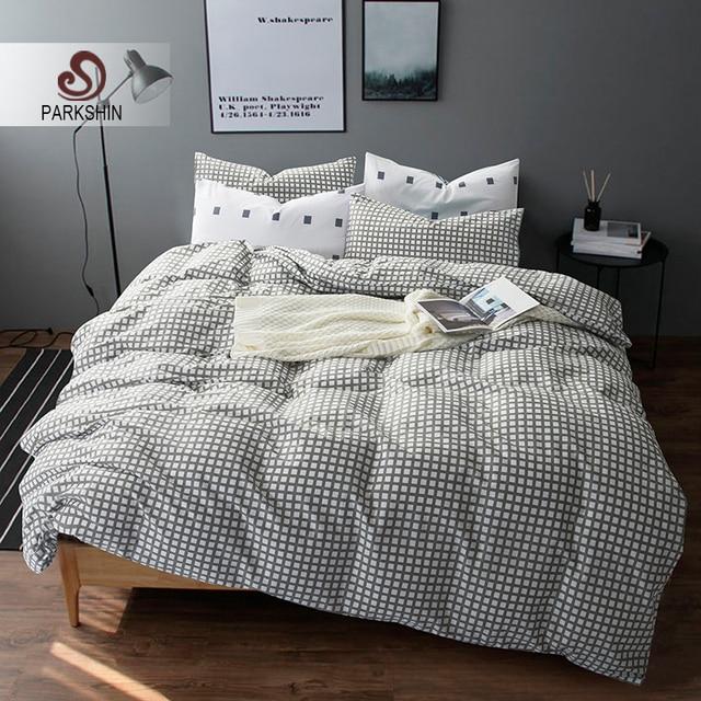 amazing parkshin nordique style ensembles de literie coton housse de couette ensemble drap de lit with ensemble drap housse couette with housse de couette
