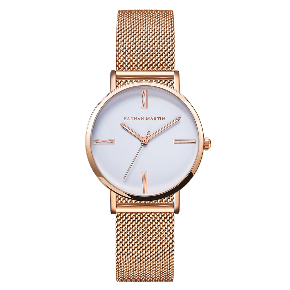 Nieuw HANNAH MARTIN Merk Fashion Simple Japan Quartz horloge - Dameshorloges