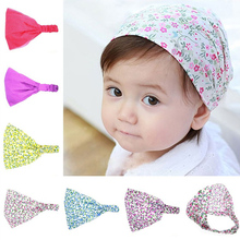 Baby Hat Headbands Head-Scarf-Accessories Spring Floral Toddler Newborn Girl Children