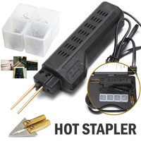 Do Promotion! Newest Car Bumper Fender Fairing Welder Tool Plastic Repair Kit with 200 Staples